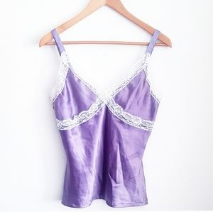 LACE & SILKY Purple & Ivory Camisole
